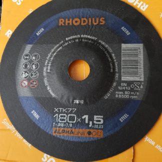25x RHODIUS Extradünne Trennscheibe XTK77 180 x 1,5 x 22,23 7x ,45 x 7/8 208702