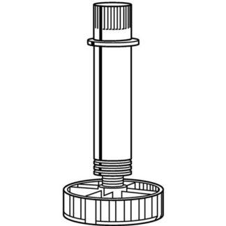4x Hettich Sockelverstellfuß 061853 Kunststoffschwarz 150mm Bereich 139-175mm