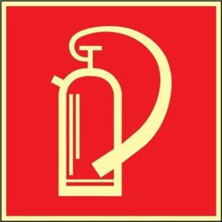 NW Folie Feuerlöscher 148x148mm rot/weiß nachleuchtend selbstklebend DIN 67510