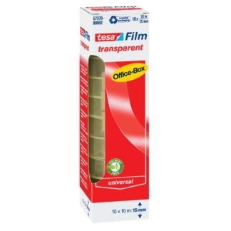 Tesa tesa® Film transparent/57370, transparent, 10mx15mm, Inh. 10