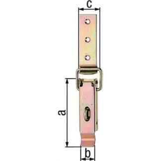 2x GAH Alberts Kistenverschluss 348021 H.93mm B.24mm STA roh galv. gelb verzinkt
