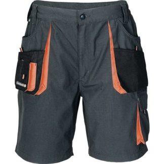 Terrax Herrenshorts Größe 48 dunkelgrau/schwarz/orange 65% PES/35% CO kurze Hose