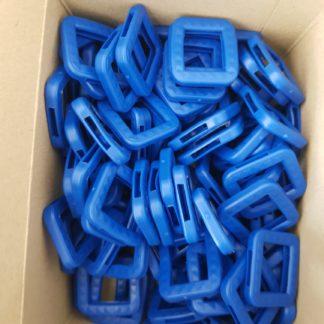 100er Pack Schlüsselkennring 8004 E BKS-Schlüssel asymetrischer Reide blau