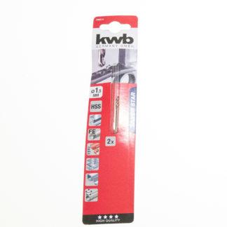 2er Pack KWB HSS-Spiralbohrer Silver Star Ø 1,5 mm, 135° rechtsschneidend 206515